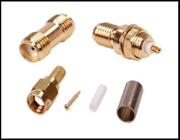 Connectors plugs sockets adaptors cricklewood electronics sma gold plated rf connectors publicscrutiny Images