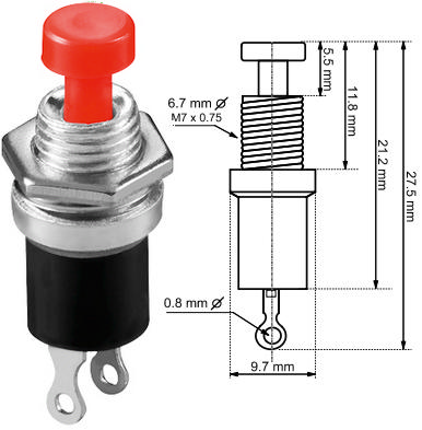 Push Button Switches Cricklewood Electronics